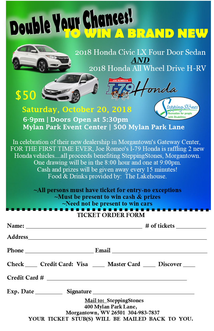 An image of the car raffle flyer